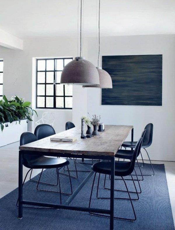 45 comedores minimalistas diferentes estilos y dise os modernos brico y deco - Lamparas colgantes minimalistas ...