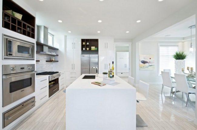 Cocinas blancas 70 fotos inspiradoras e ideas de decoración   Brico ...