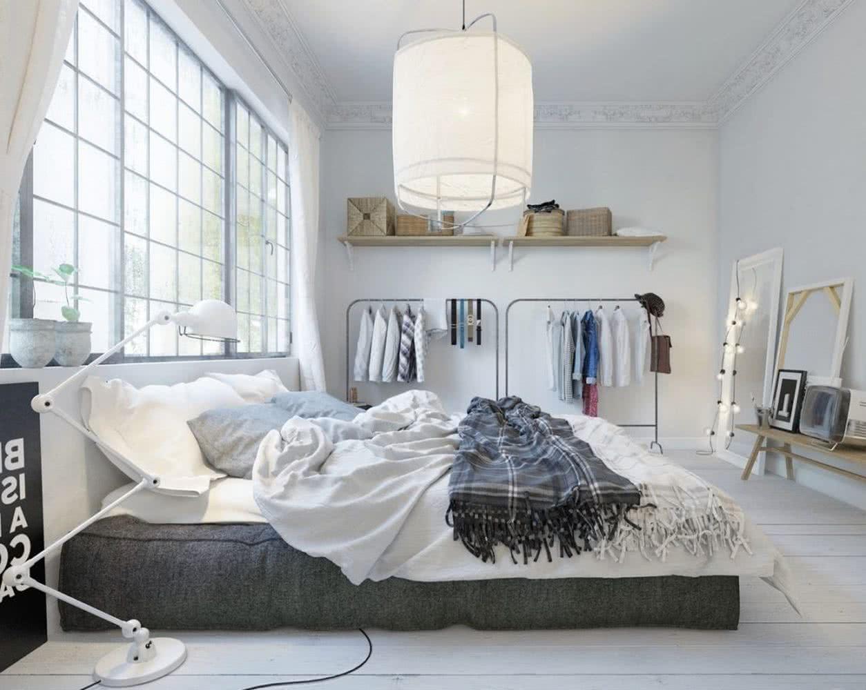 habitaciones grises y blancas Dormitorios Blancos 30 Imgenes Y Consejos Para Combinar