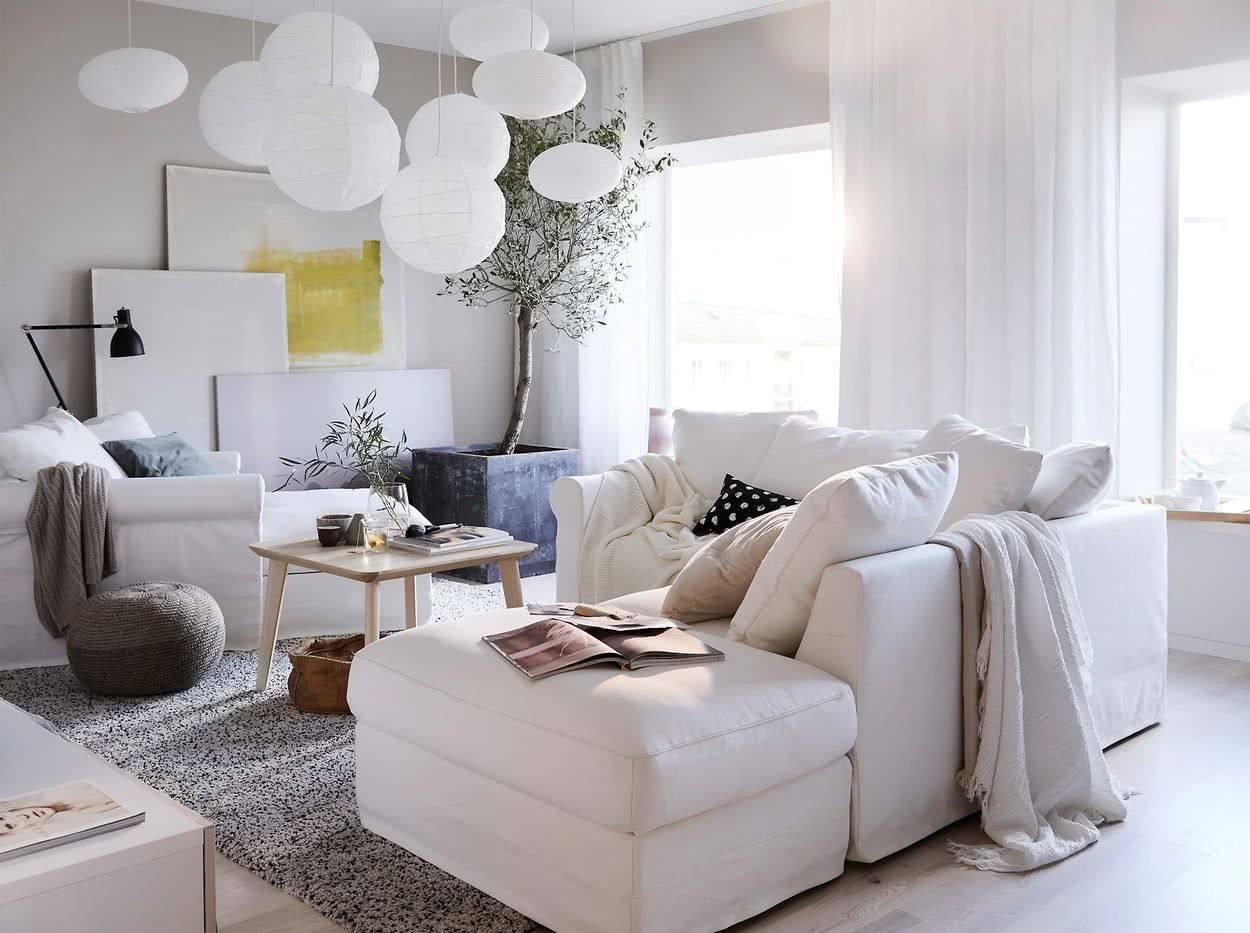 Salones blancos 15 imágenes e ideas de decoración para inspirarse