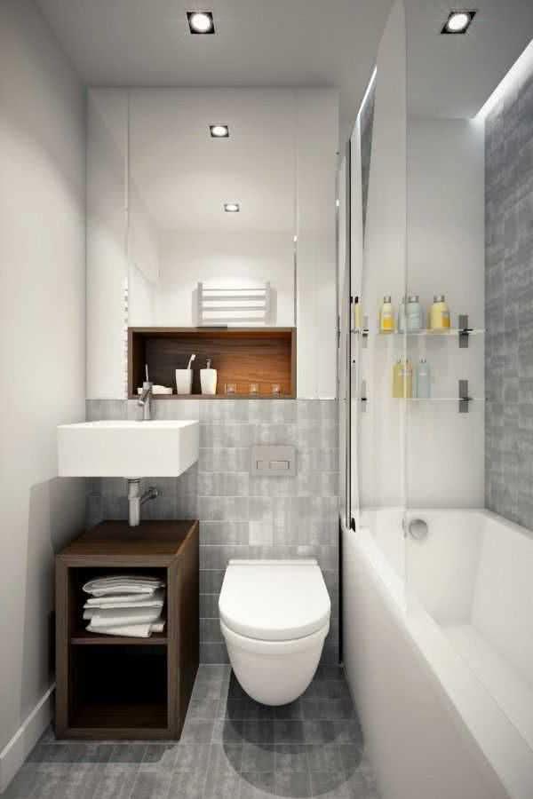 Ba os peque os modernos 50 im genes e ideas contempor neas - Fotos de banos muy pequenos con ducha ...