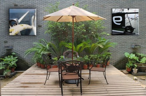 Decoraci n de jardines y patios modernos 140 fotos para for Como decorar un arbol en el jardin