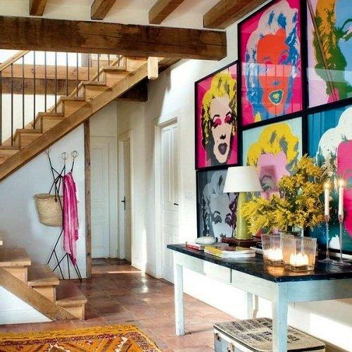 Casas vintage 70 salones comedores dormitorios cocinas y ba os brico y deco - Casas decoradas estilo vintage ...