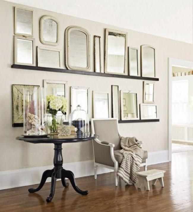 Decoracin de paredes con espejos 35 fotos de ideas creativas