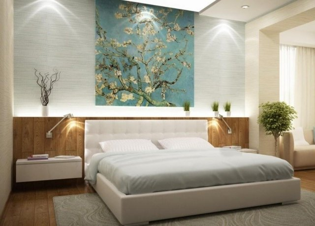 50 habitaciones de matrimonio colores e ideas de decoraci n for Papel pintado para muebles de madera