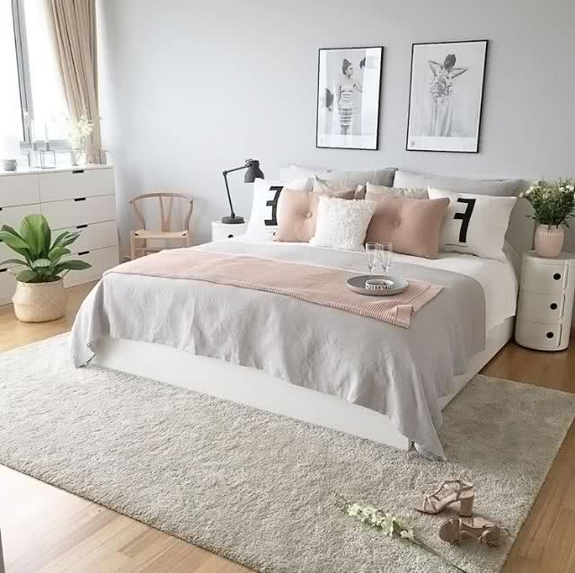 Colores para habitaciones 2019 modernos 65 fotos e ideas for Decoracion habitacion bebe gris y rosa