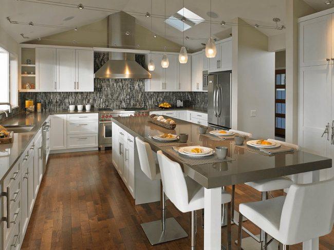 Awesome cocinas y comedores modernos pictures casas for Cocina comedor con isla