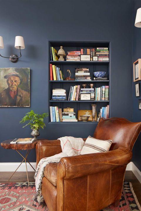 Colores para salas 2018 modernos 40 fotos de combinaciones - Pintar salon en dos colores ...