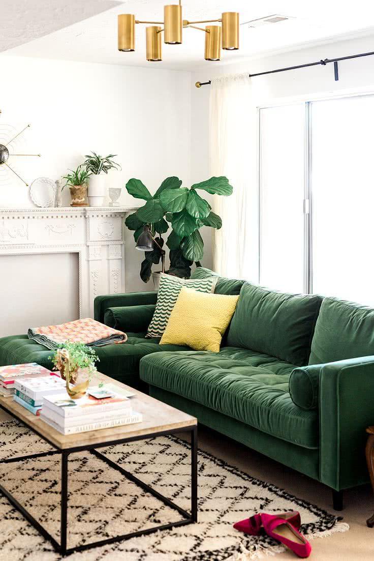 Muebles De Sal N Modernos 2018 100 Fotos E Ideas Para Inspirarse  # Muebles Color Mostaza