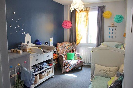 40 habitaciones de beb modernas y tips de decoraci n for Cuartos decorados con estrellas