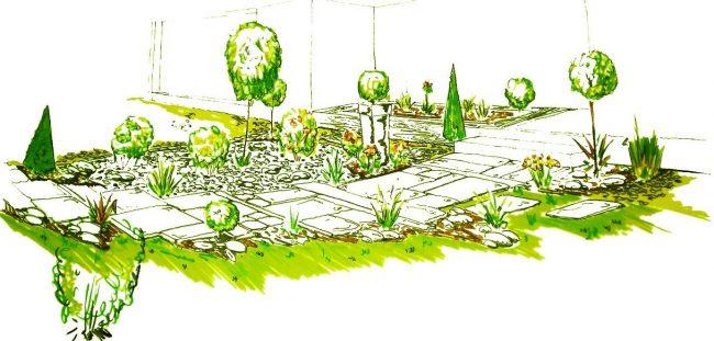 Dise o de jardines y patios 160 im genes e ideas modernas for Diseno de fuente de jardin al aire libre