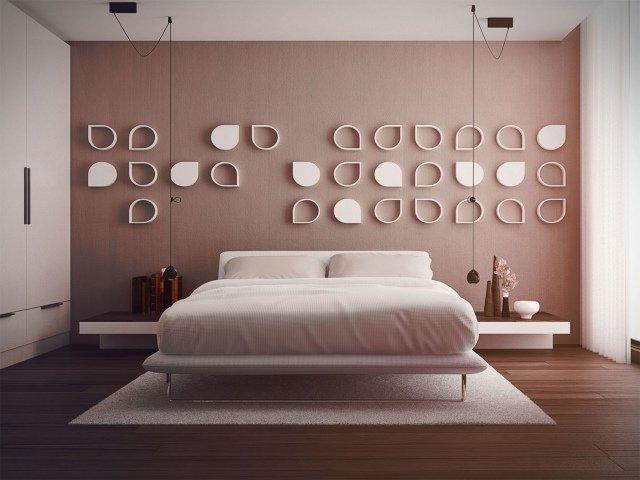 pared con figuras geométricas