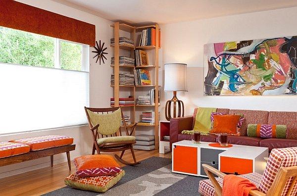 Casas vintage 70 salones comedores dormitorios cocinas y ba os - Decoracion de salones vintage ...
