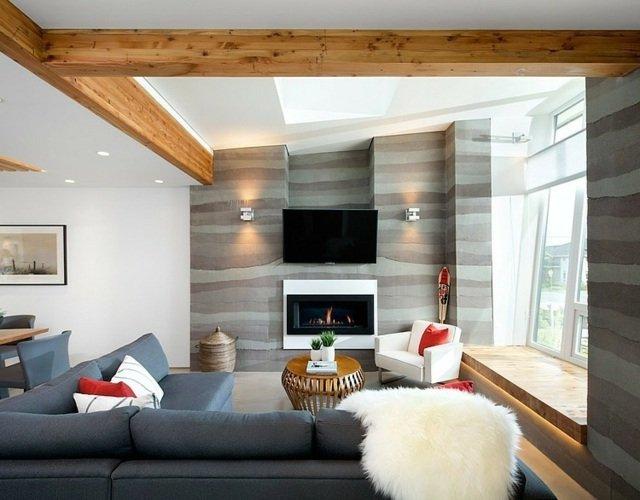 Salas modernas 2019 \u2013 180 imágenes, tendencias de decoración
