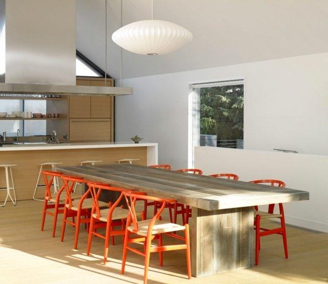 Comedor moderno minimalista rojo - Comedores modernos minimalistas ...