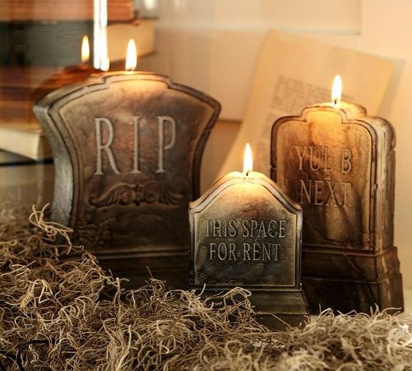 décoration-Halloween-pas-chère-bougies-pierres-tombales