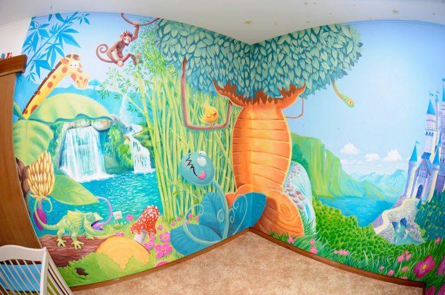 Murales infantiles para dormitorios de ni os y ni as 20 for Decoracion para jardin de ninos