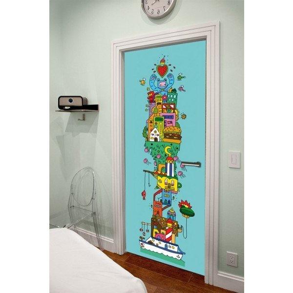 Puertas decoradas de 50 im genes y muchas ideas de - Cristales decorados para puertas ...