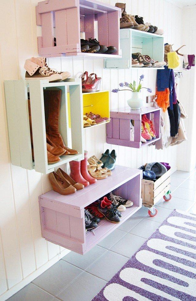 30 ideas para guardar zapatos bonitas y originales brico - Armarios para zapatos ...
