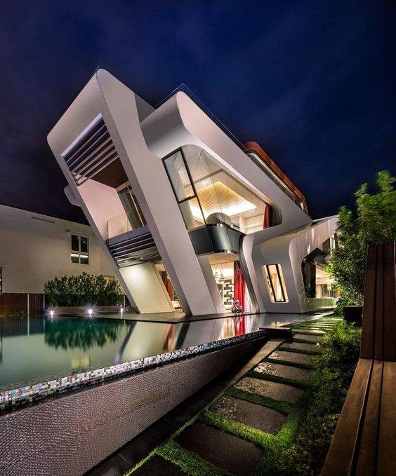 40 casas contempor neas fachadas dise o y decoraci n Estilo contemporaneo arquitectura