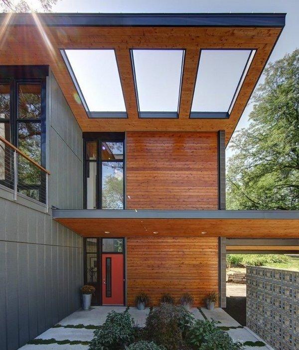 Casas modernas 100 fotos de fachadas dise o de interiores for Exteriores de casas modernas