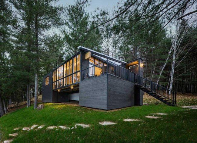 Casas de campo modernas o tradicionales 70 fotos e ideas for Casa moderna en el campo