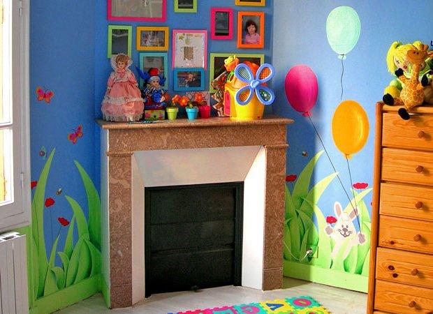 Murales para dormitorios infantiles fuente mural - Murales para ninas ...