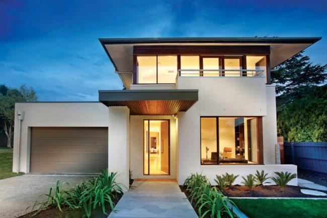 40 casas contempor neas fachadas dise o y decoraci n for Materiais para fachadas de casas modernas