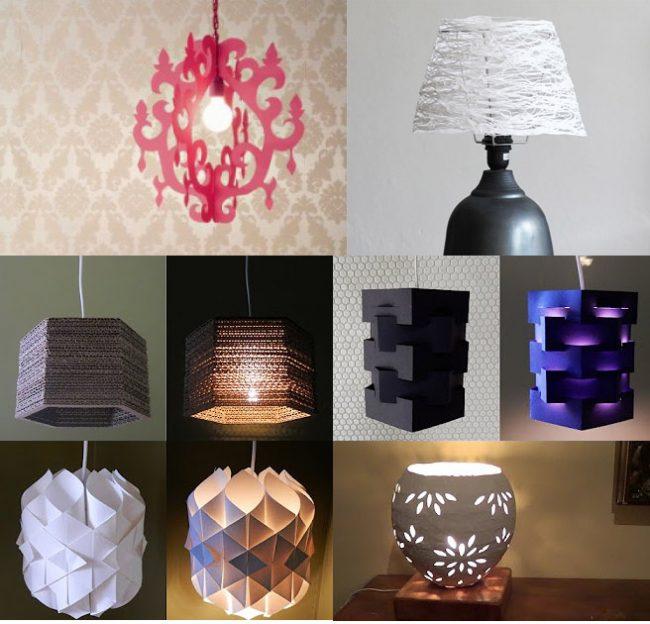 C mo hacer una l mpara paso a paso 6 ideas f ciles y - Como hacer una lampara de pared ...