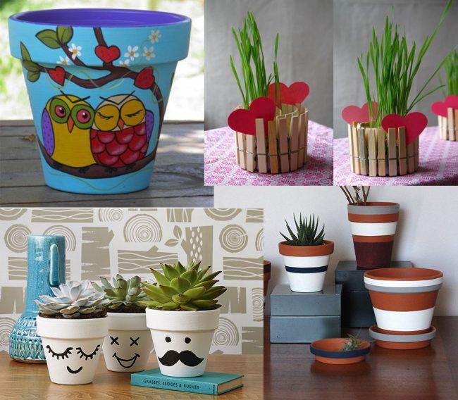 Macetas decoradas 5 ideas f ciles y baratas para hacer en casa for Macetas para exteriores decoracion