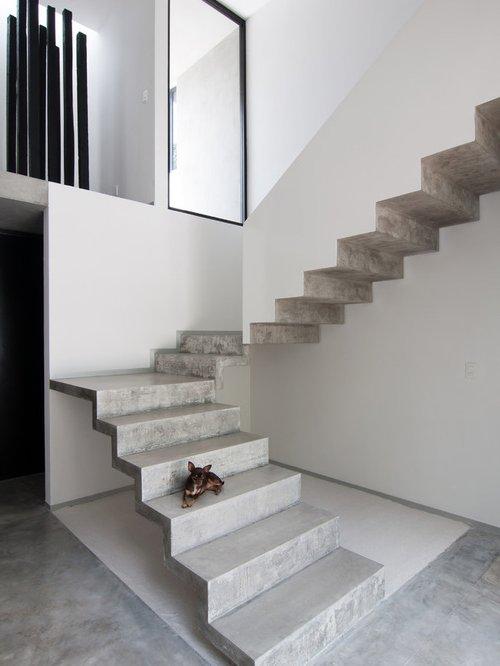 Escaleras modernas de interior 120 fotos e ideas de dise o Modelos de escaleras de cemento