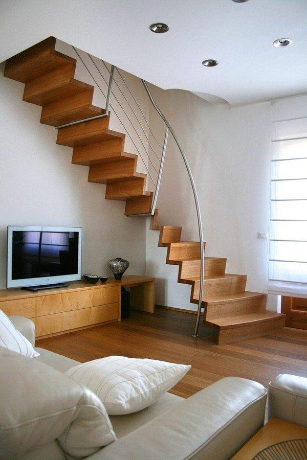 Escaleras modernas de interior 120 fotos e ideas de dise o - Escaleras espacios pequenos ...