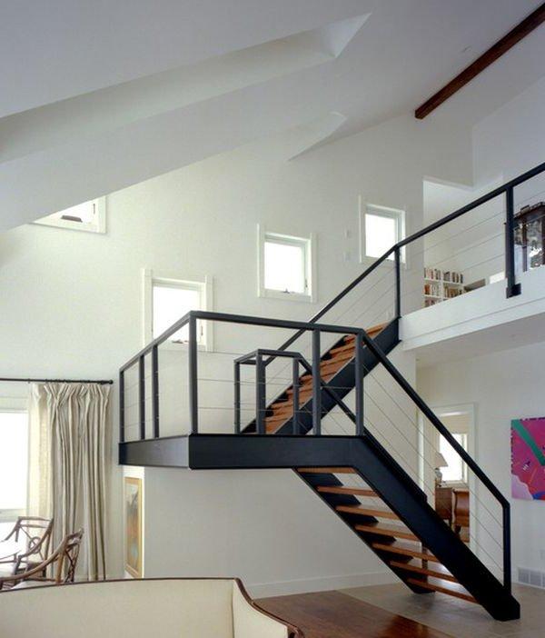 Escaleras modernas de interior 120 im genes e ideas de dise o - Barandillas para escaleras interiores modernas ...