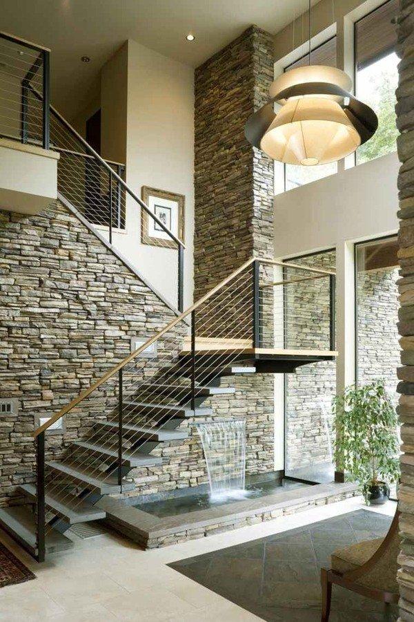 Escaleras modernas de interior 120 fotos e ideas de dise o - Como subir muebles por escalera caracol ...