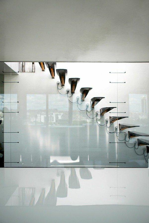 escaleras modernas de interior fotos e ideas de diseo