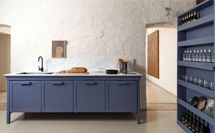 cocina moderna color azul marino