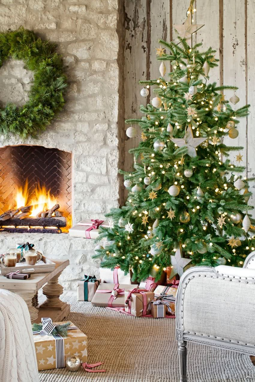 Arboles De Navidad Decorados 2018 2019 80 Fotos Y Tendencias Brico - Fotos-arboles-de-navidad-decorados