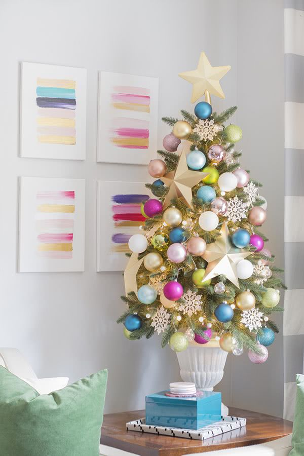 Arboles de navidad decorados 2018 2019 80 fotos y tendencias - Arbol navideno blanco decorado ...