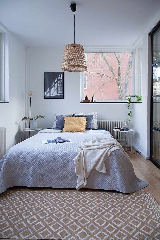 dormitorio en celeste pastel claro