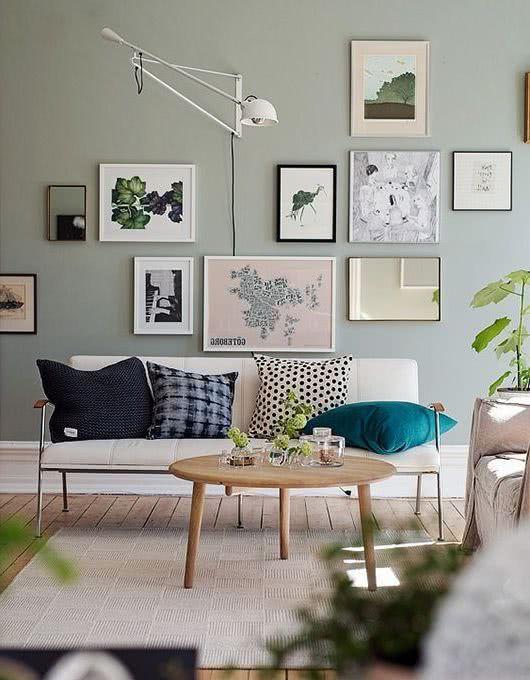 Colores para salas 2019 50 fotos de combinaciones for Muebles de sala color gris