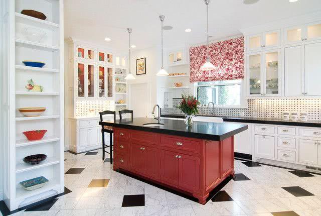 Colores para cocinas 2020 2019 70 fotos y tendencias modernas - Cocinas color rojo ...