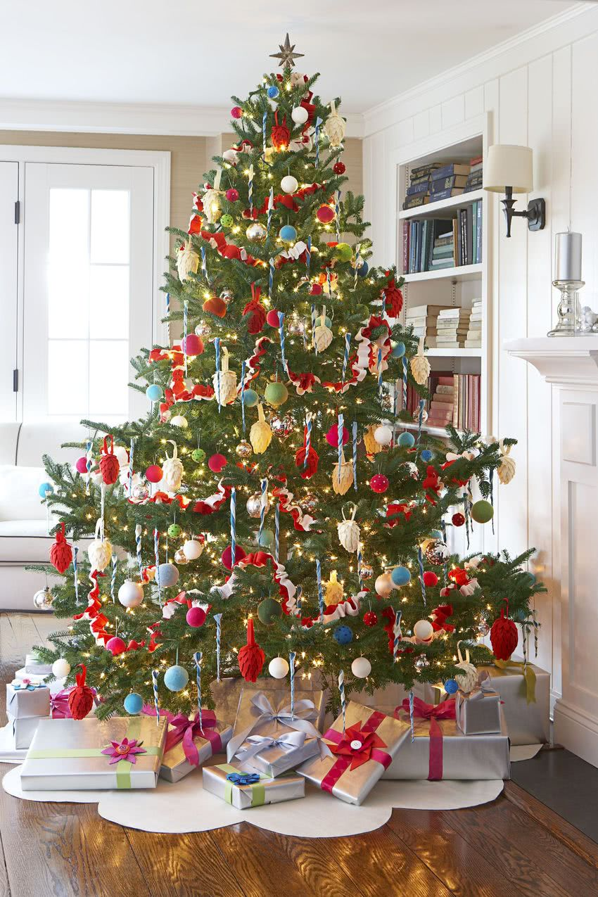 Arboles de navidad decorados 2018 2019 80 fotos y tendencias - Imagenes de arboles de navidad decorados ...