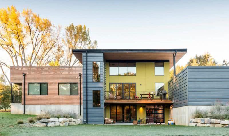 Colores para exteriores 2019 60 ideas y fotos de fachadas for Fachadas de casas modernas para colorear