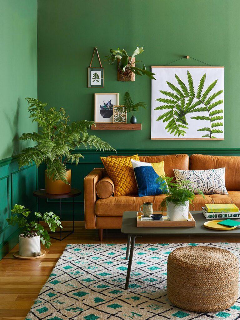 combinar color verde en paredes