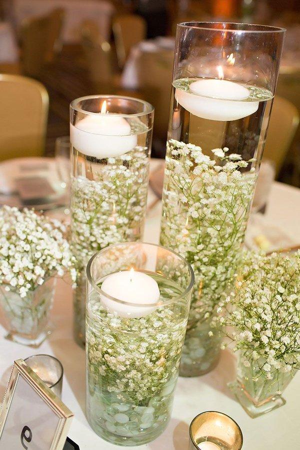 Centros de mesa para bodas 2018 de 100 fotos e ideas for Fotos de mesas de centro