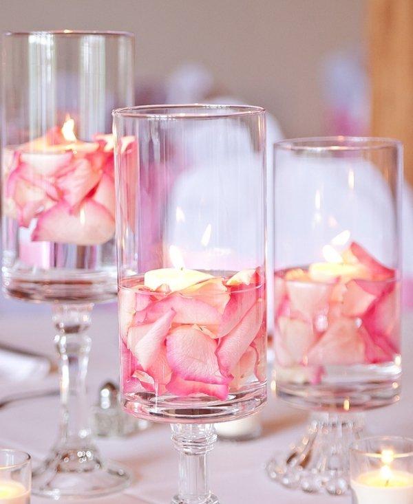 Centros de mesa para bodas 2018 de 100 fotos e ideas - Copas decoradas con velas ...