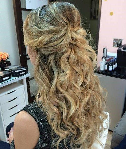 Peinados de novia 2019 actuales 90 fotos y tendencias - Peinados de semirecogido ...