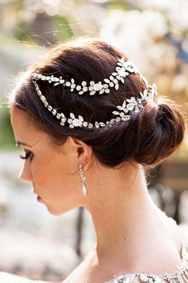 Ideas de estilo para peinados de bodas 2021 Fotos de ideas de color de pelo - Peinados de novia 2021 actuales 90 fotos y tendencias