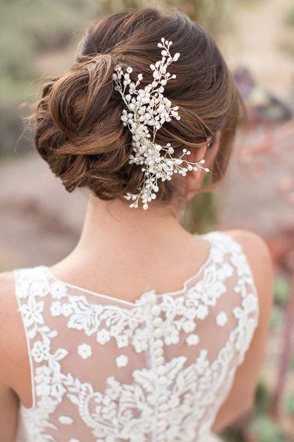 Más cautivador peinados bodas 2021 Imagen de cortes de pelo estilo - Peinados de novia recogidos 2021 tendencias y 90 fotos