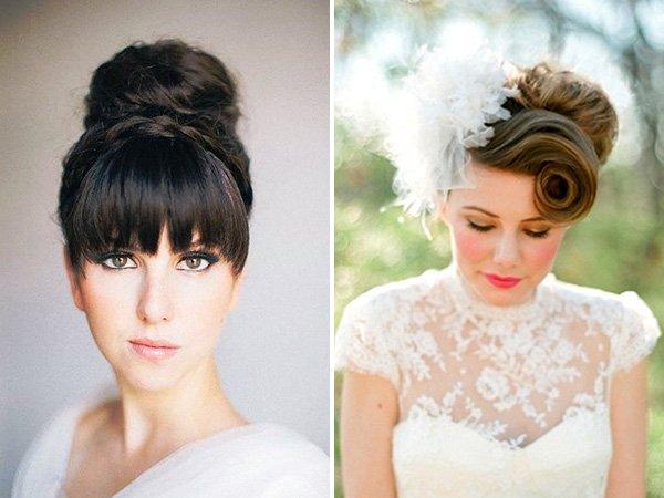 Peinados elegantes de novia 2020